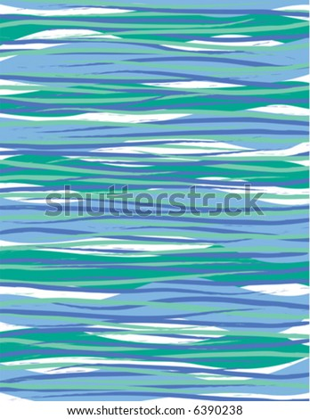 An abstract waves and stripes vector background in the colors of deep surf. - stock vector