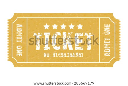 an admit one stub ticket  - stock vector