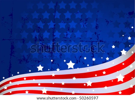 An American flag background - stock vector