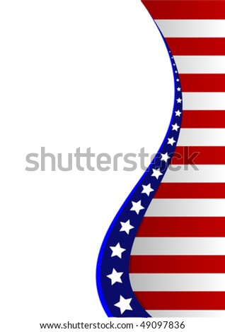 An American flag vertical background - stock vector