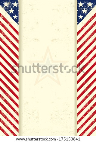 An american vintage background with a texture - stock vector