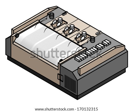 An analogue seismometer. - stock vector