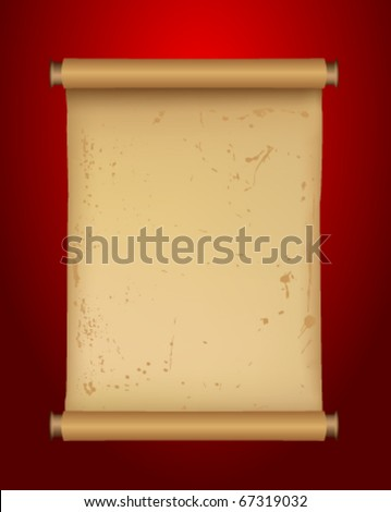 An ancient Chinese scroll - stock vector