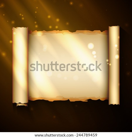 An ancient chinese scroll, excellent vector illustration, EPS 10 - stock vector