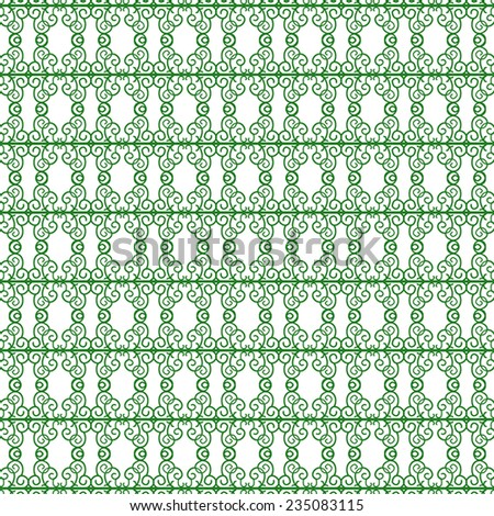 An antique floral background image - stock vector