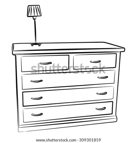 Vintage Chest Drawers Furniture Interior Design 610576868