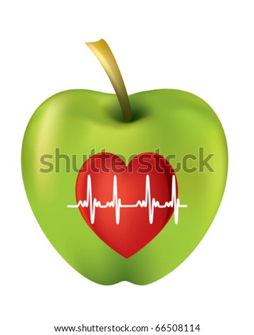 An apple a day keeps the doctor away - stock vector
