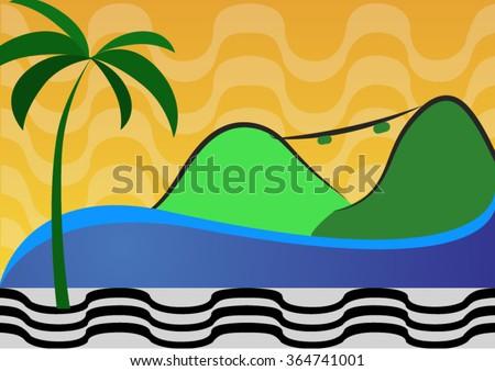 An background illustration of Rio de Janeiro. - stock vector