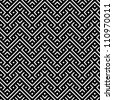 An elegant black and white, vector pattern - stock photo