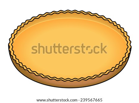 An empty pie shell ready to be filled. - stock vector
