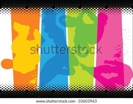 an extreme motor sport - stock vector