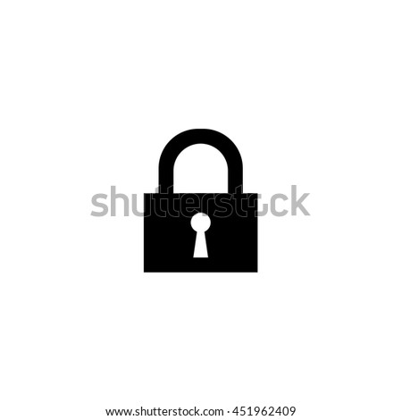 An Icon Illustration Isolated on a Background - Padlock - stock vector