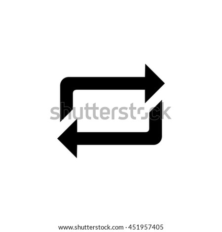 An Icon Illustration Isolated on a Background - Square Refresh - stock vector