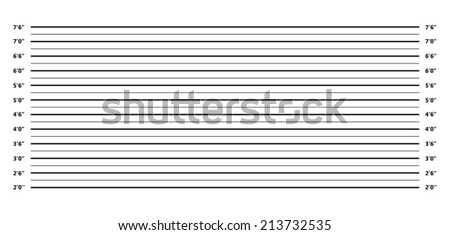 An Illustrated Police Lineup Background on White - stock vector