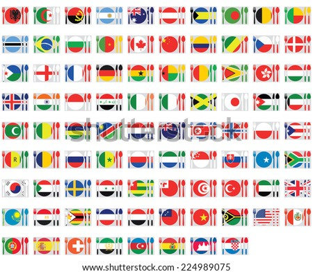 An Illustrated Set of World Flags
