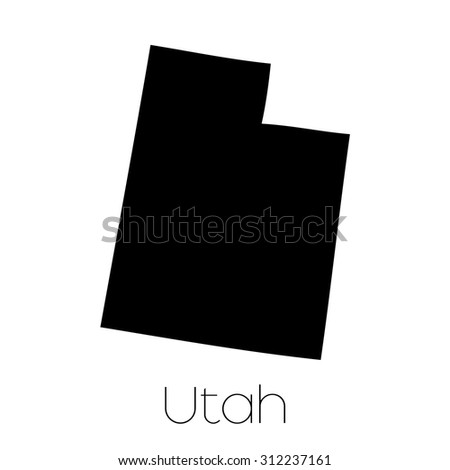 An Illustrated Shape of the State of Utah - stock vector