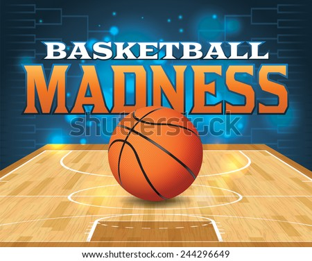 An illustration for a basketball tournament. Vector EPS 10. EPS file contains transparencies and is layered. Type has been converted to outlines. - stock vector
