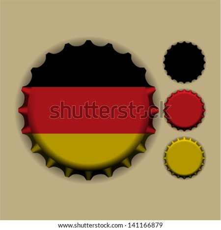 An illustration of a bottle cap with a country sign Germany - stock vector