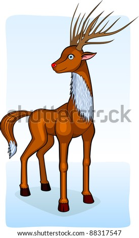 An illustration of a deer. - stock vector