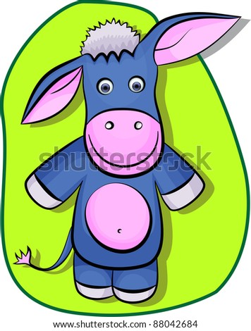 An illustration of a donkey in eps 10.  Can be scaled without quality loss. - stock vector