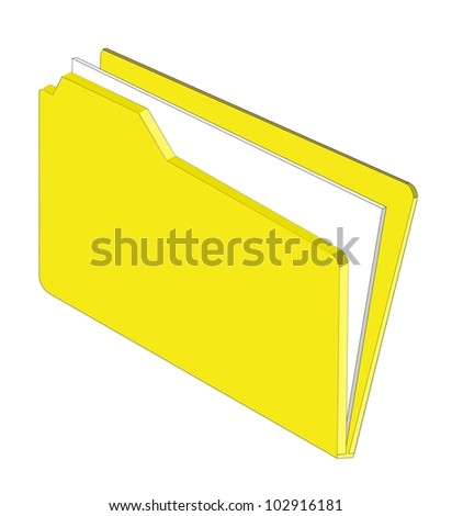 An illustration of a folder containing documents - stock vector