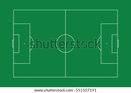 An Illustration of a football pitch