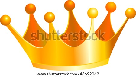 An illustration of a gold kings crown