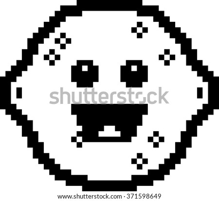 An illustration of a lemon smiling in an 8-bit cartoon style.