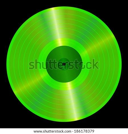 An illustration of a lp vinyl record. - stock vector