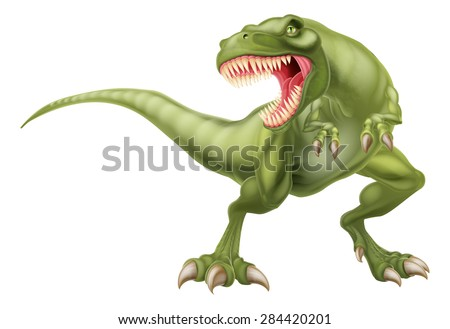 An illustration of a mean looking tyrannosaurs rex t rex dinosaur  - stock vector