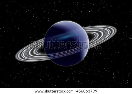 An Illustration of a Planet - stock vector