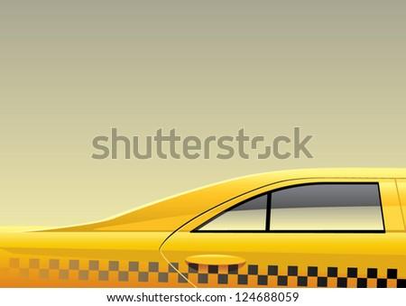 an illustration of a taxi car - stock vector
