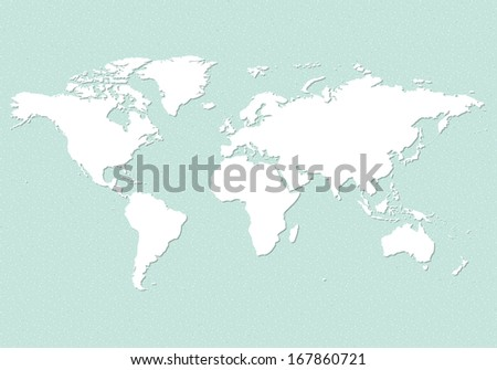 An illustration of an earth map over a sandpaper. - stock vector