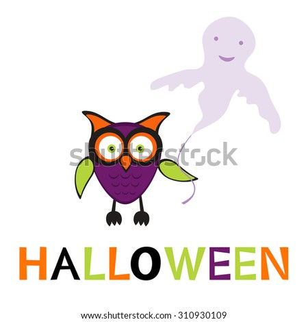 An illustration of cute halloween owl in vector format