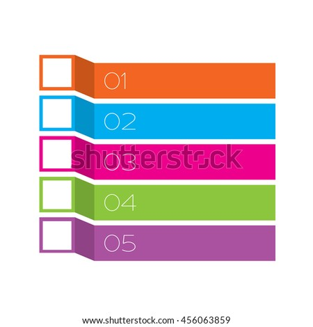 An Illustration of Inforgraphic Bars - stock vector