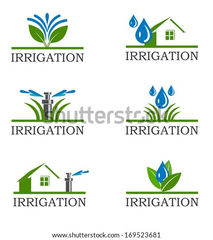 An illustration of Irrigation icons - stock vector