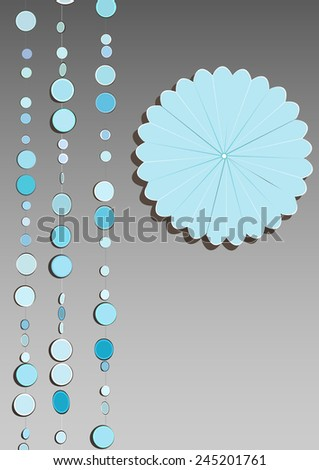 Illustration marble mobile hanging origami flower stock vector an illustration of marble mobile hanging with an origami flower on the side with space mightylinksfo