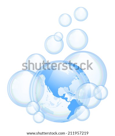 An illustration of the bubbles. Background.  - stock vector