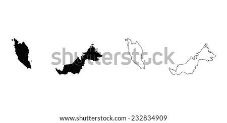 An Illustration on a White background of Malaysia - stock vector