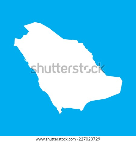 An Illustration on an Blue background of Saudi Arabia - stock vector