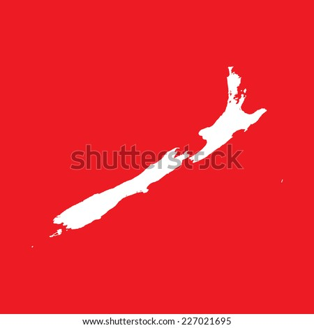 An Illustration on an Red background of New Zealand