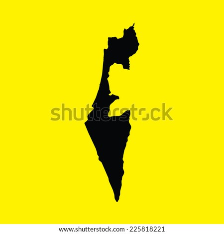 An Illustration on an Yellow background of Israel