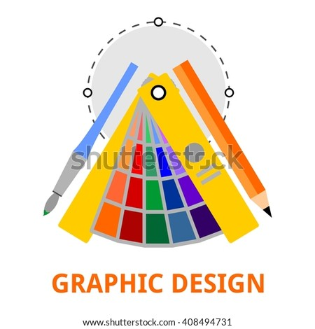 An illustration showing a graphic design concept - stock vector