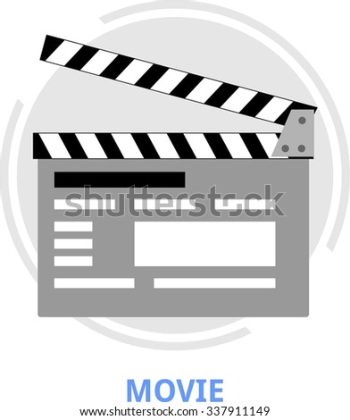 An illustration showing a movie related concept - stock vector