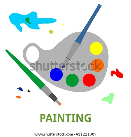 An illustration showing a painting concept - stock vector