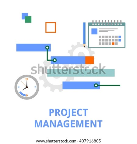 An illustration showing a project management concept - stock vector