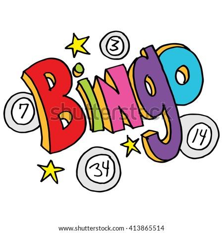 image bingo message numbers stars stock vector 413865514 shutterstock rh shutterstock com bingo clip art free bingo clip art free download
