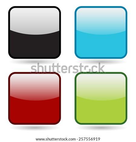 An image of a button icon set. - stock vector