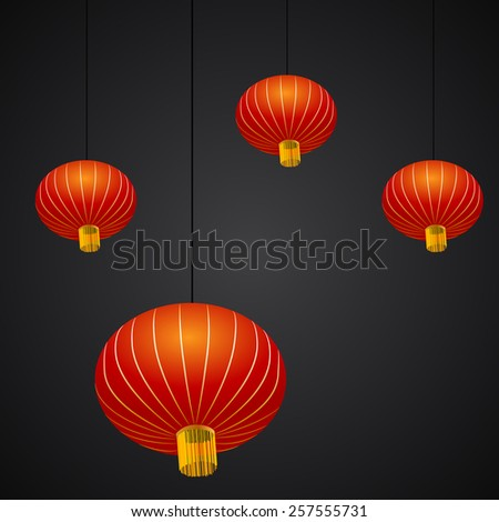 An image of a Chinese New Year lantern background. - stock vector
