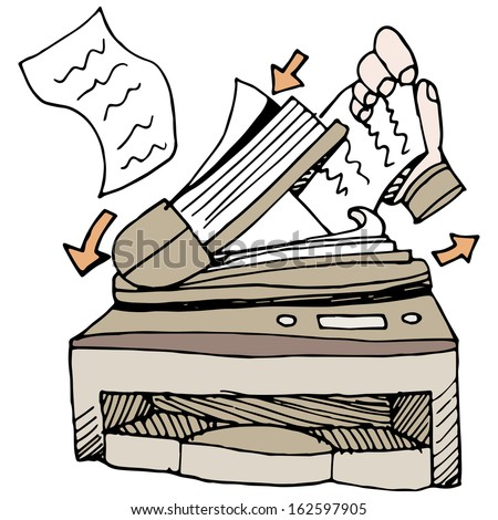 An image of a document scanner. - stock vector